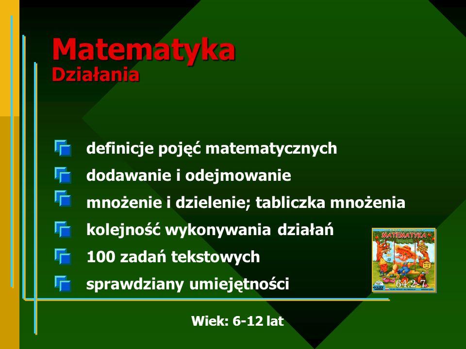 Matematyka Działania definicje pojęć matematycznych