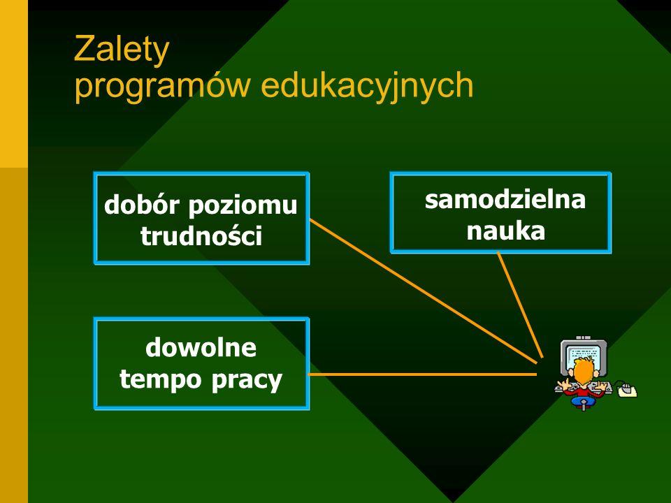 Zalety programów edukacyjnych