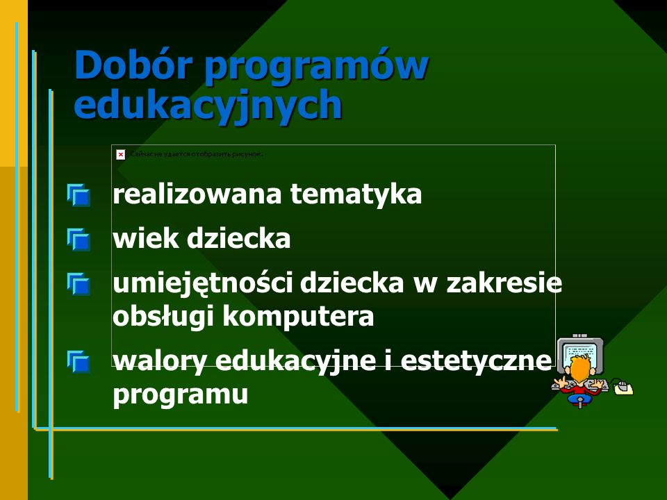 Dobór programów edukacyjnych