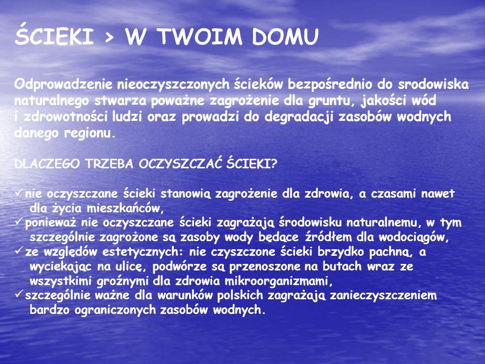 ŚCIEKI > W TWOIM DOMU
