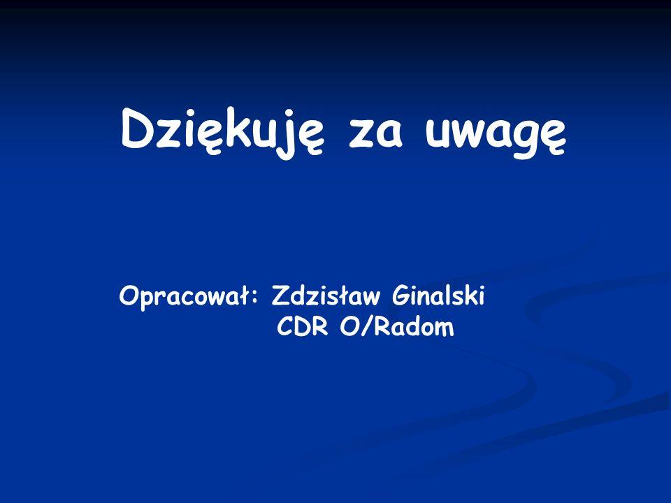 Dziękuję za uwagę Opracował: Zdzisław Ginalski CDR O/Radom