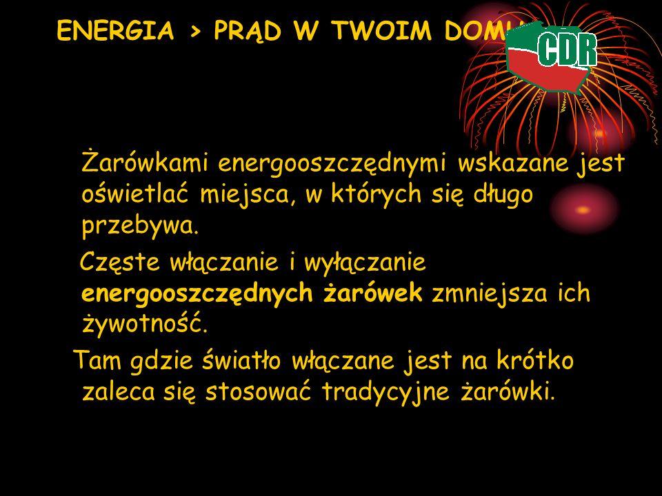 ENERGIA > PRĄD W TWOIM DOMU