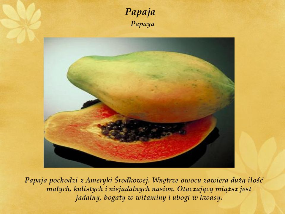 Papaja Papaya.