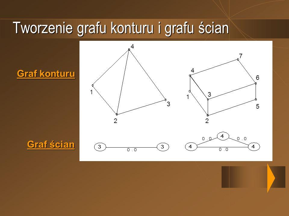 Tworzenie grafu konturu i grafu ścian