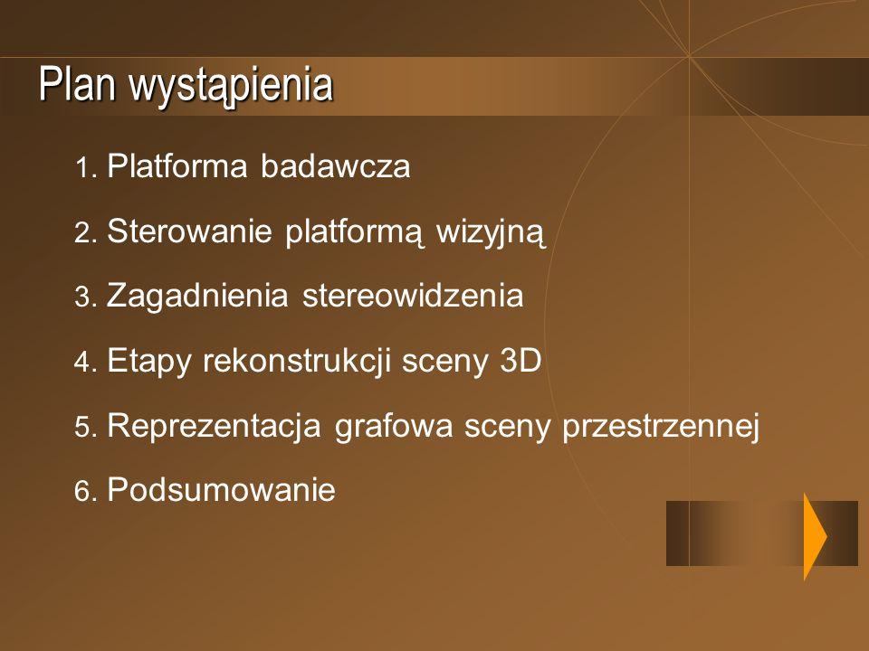 Plan wystąpienia 1. Platforma badawcza 2. Sterowanie platformą wizyjną