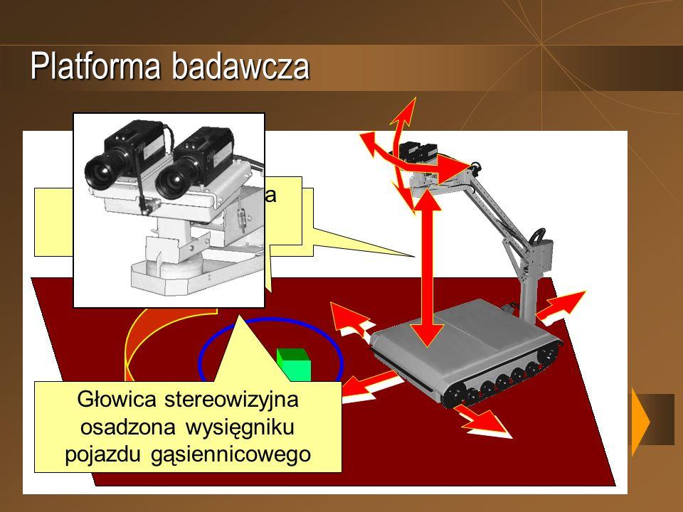 Platforma badawcza Obserwowana scena 3D Pięć stopni swobody platformy