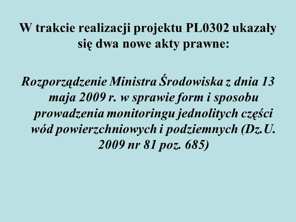W trakcie realizacji projektu PL0302 ukazały się dwa nowe akty prawne: