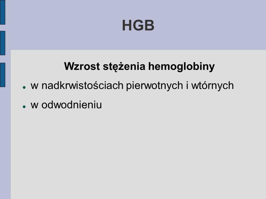 Wzrost stężenia hemoglobiny