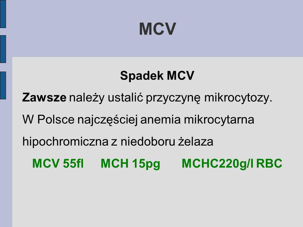 MCV 55fl MCH 15pg MCHC220g/l RBC