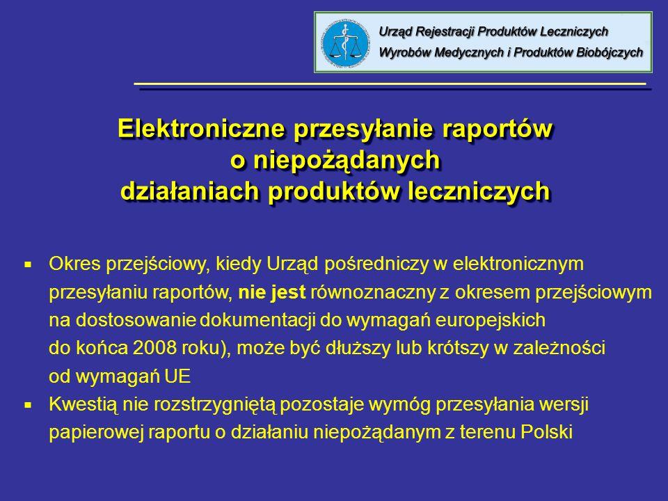 Elektroniczne przesyłanie raportów o niepożądanych działaniach produktów leczniczych