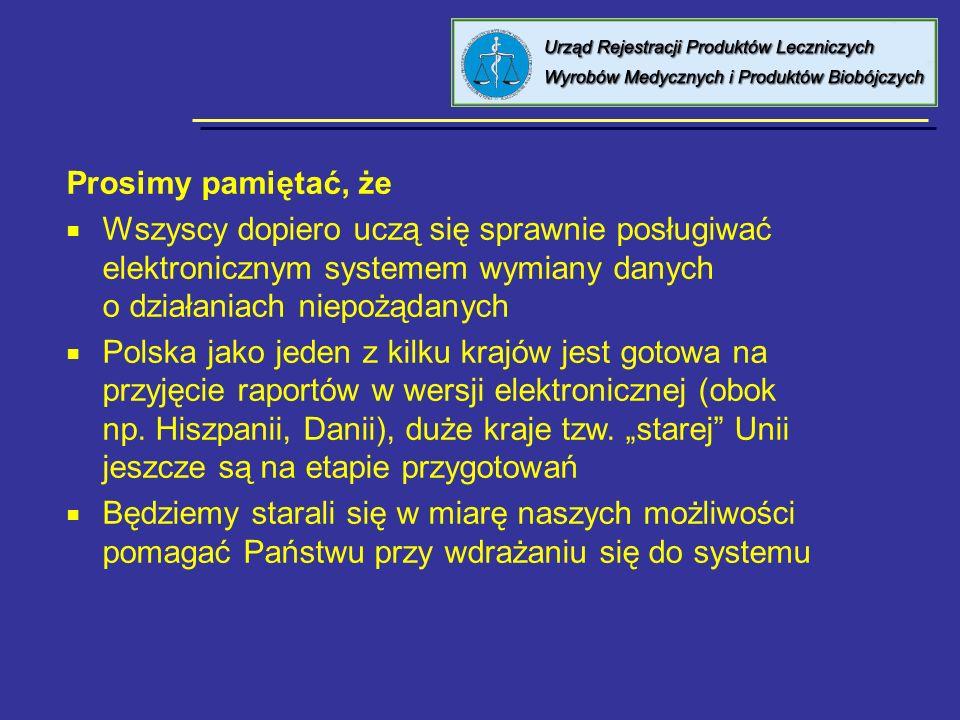 8 kwietnia 2005 Urząd Rejestracji PL, WM i PB. Prosimy pamiętać, że.