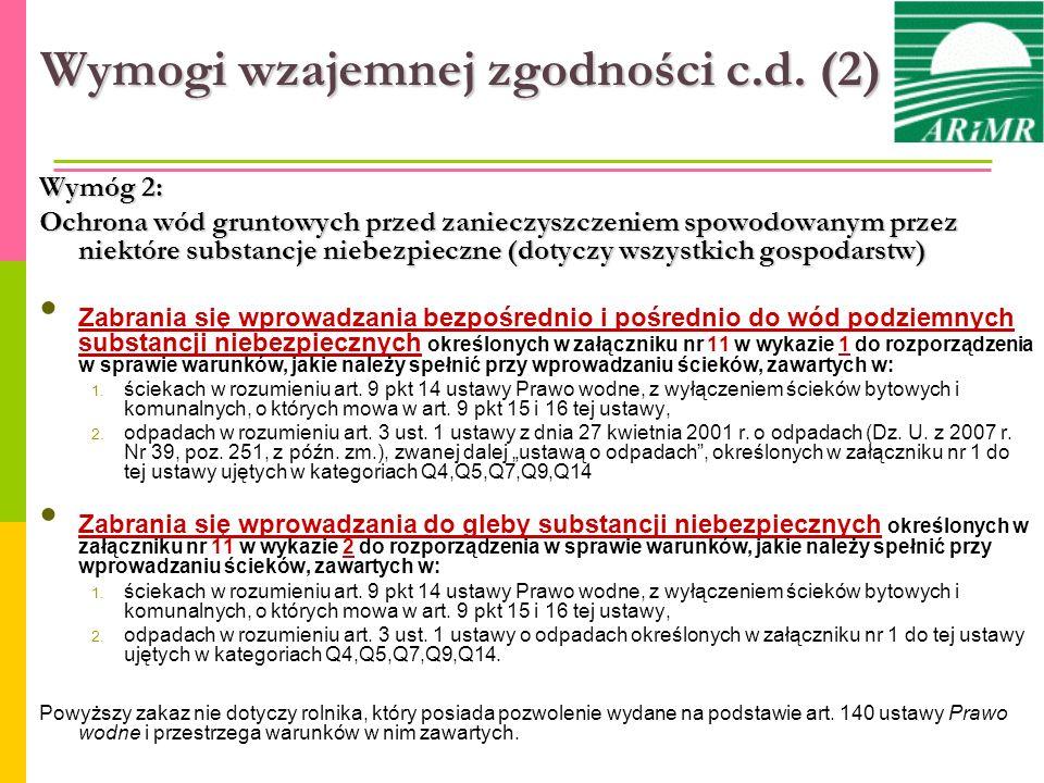 Wymogi wzajemnej zgodności c.d. (2)