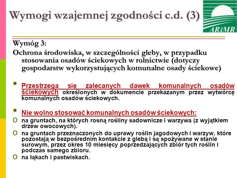 Wymogi wzajemnej zgodności c.d. (3)
