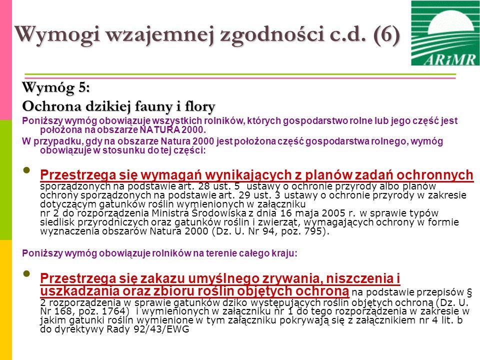Wymogi wzajemnej zgodności c.d. (6)