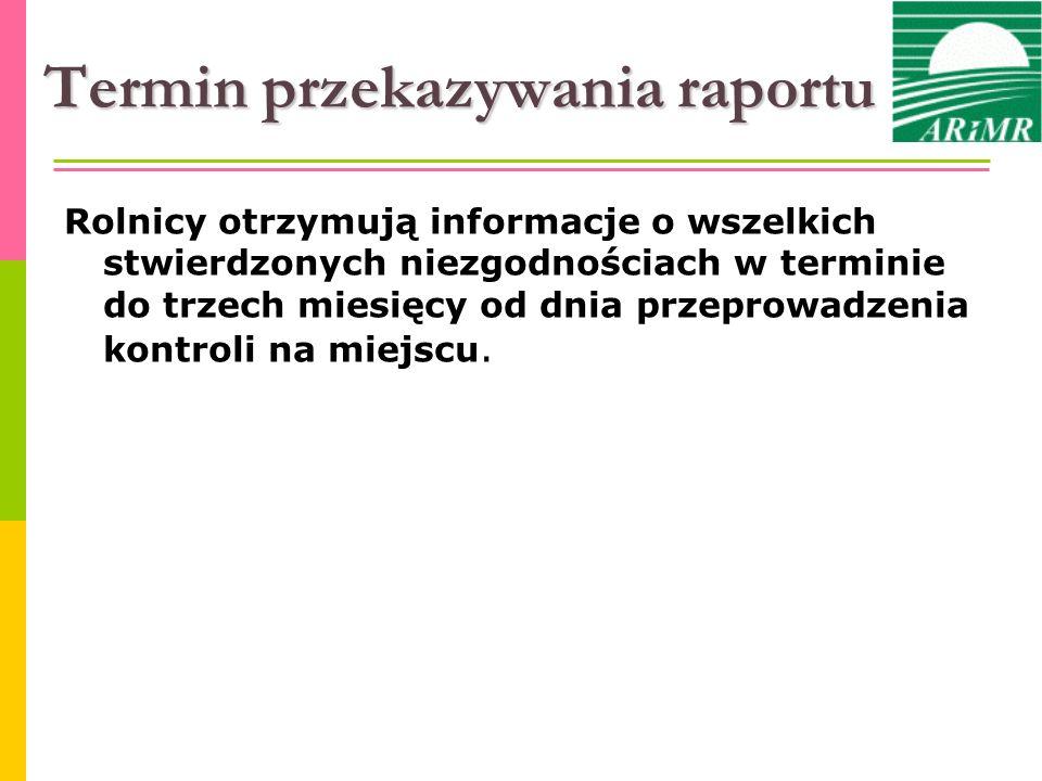 Termin przekazywania raportu