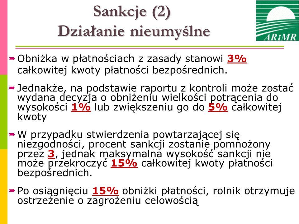 Sankcje (2) Działanie nieumyślne