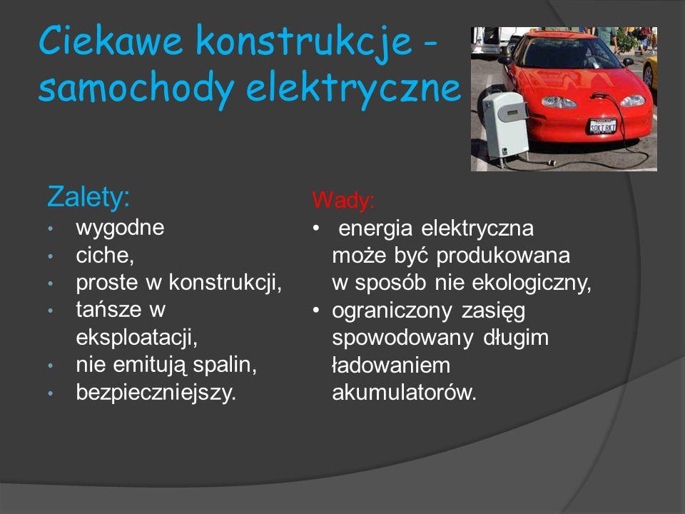 Ciekawe konstrukcje - samochody elektryczne