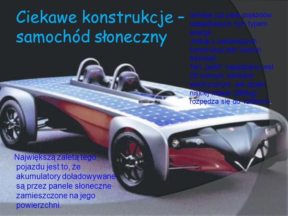 Ciekawe konstrukcje – samochód słoneczny