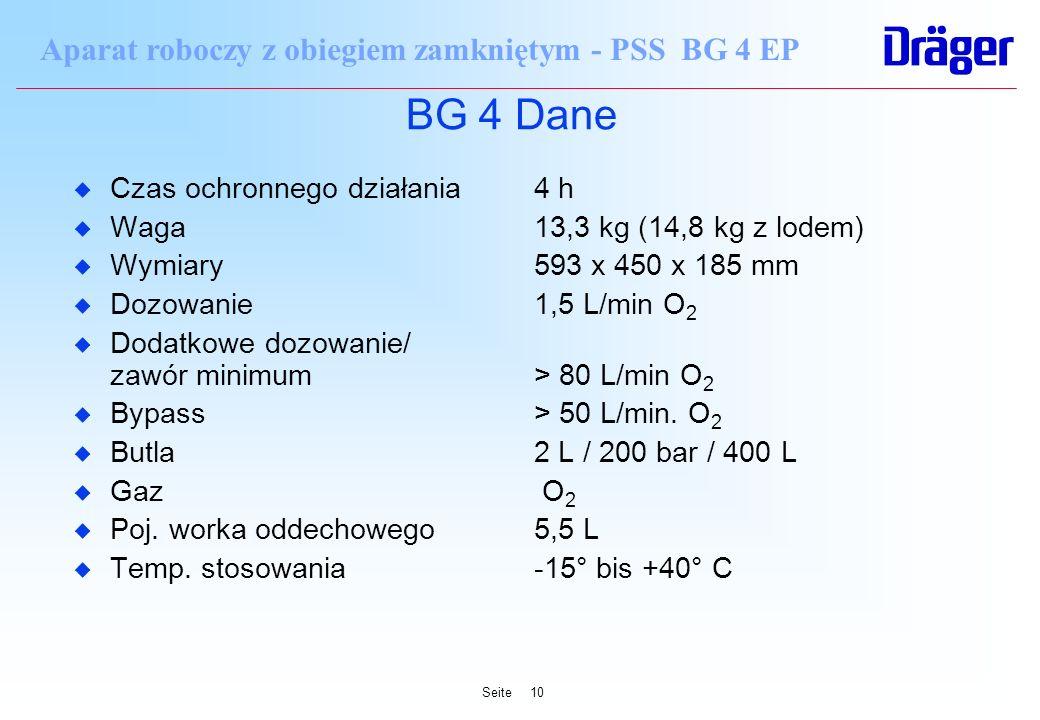 BG 4 Dane Czas ochronnego działania 4 h Waga 13,3 kg (14,8 kg z lodem)