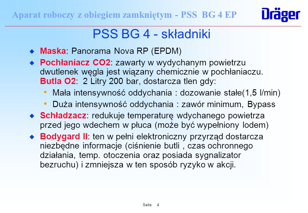 PSS BG 4 - składniki Maska: Panorama Nova RP (EPDM)