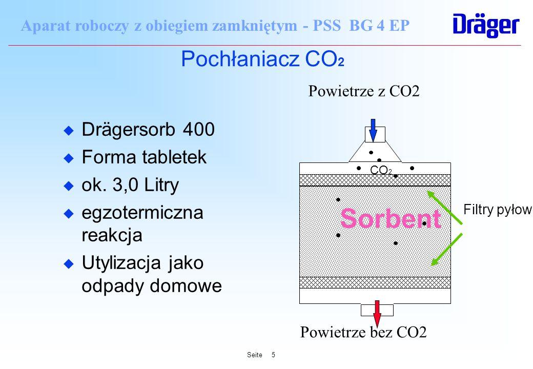 Sorbent Pochłaniacz CO2 Drägersorb 400 Forma tabletek ok. 3,0 Litry