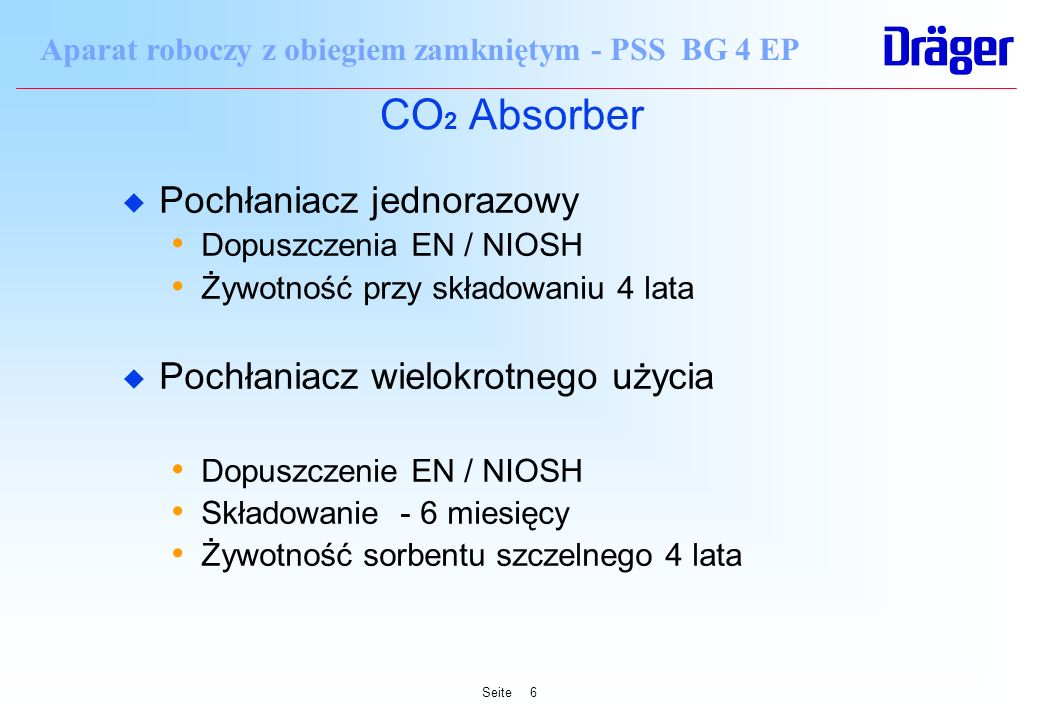 CO2 Absorber Pochłaniacz jednorazowy Pochłaniacz wielokrotnego użycia