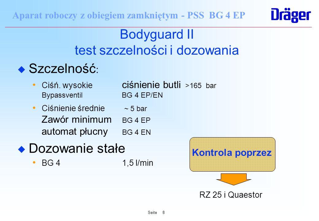 Bodyguard II test szczelności i dozowania