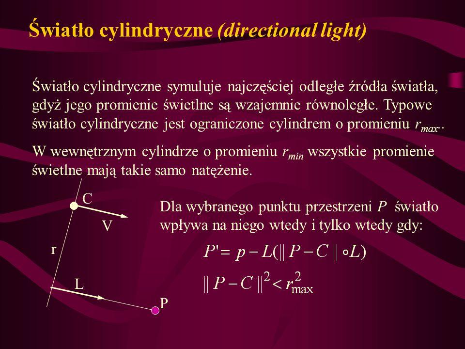 Światło cylindryczne (directional light)