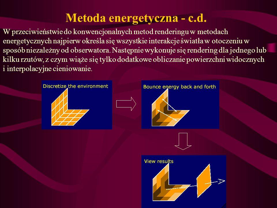 Metoda energetyczna - c.d.