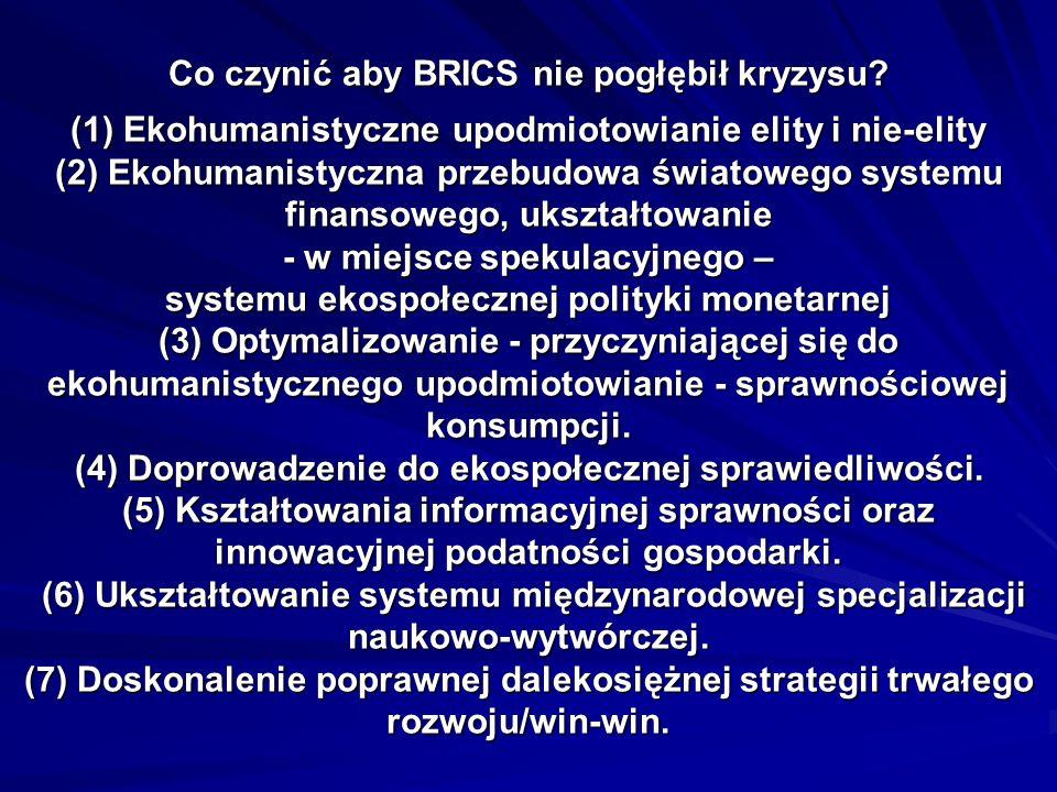 Co czynić aby BRICS nie pogłębił kryzysu