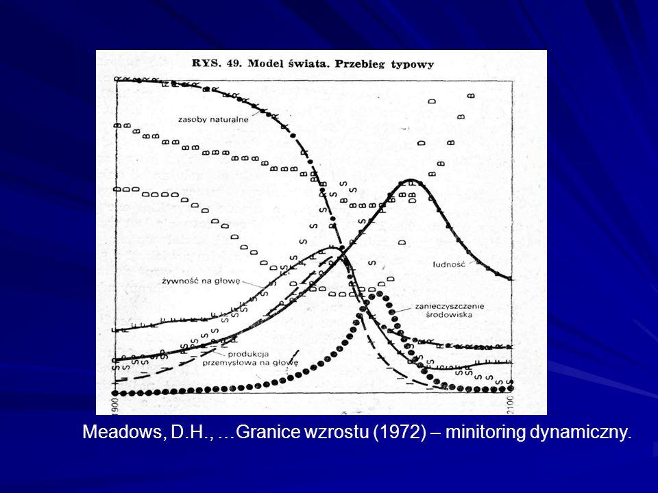 Meadows, D.H., …Granice wzrostu (1972) – minitoring dynamiczny.