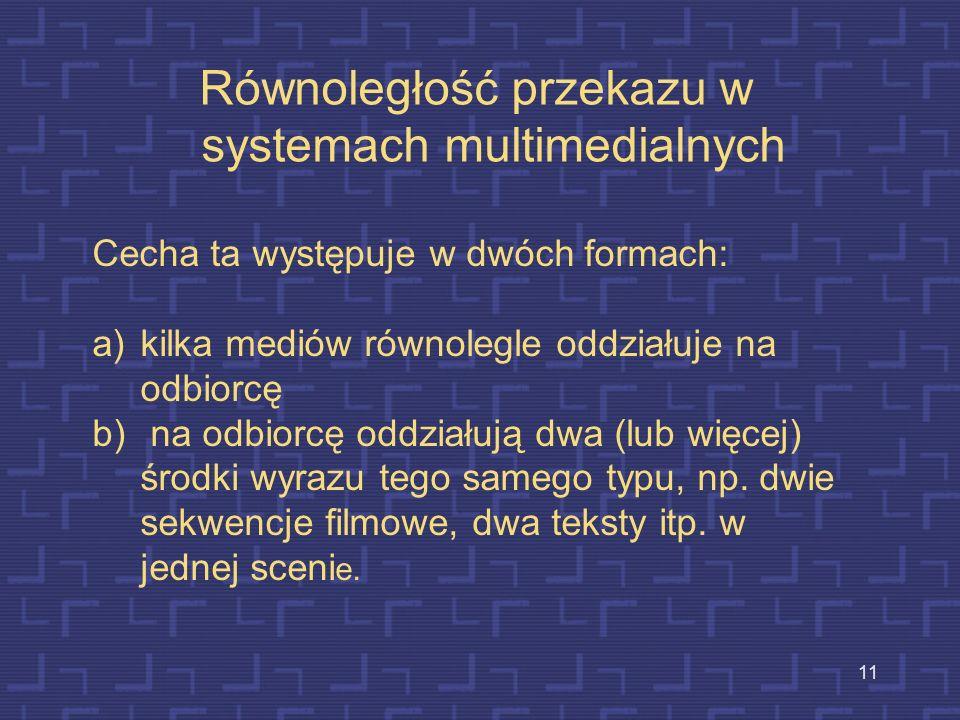 Równoległość przekazu w systemach multimedialnych