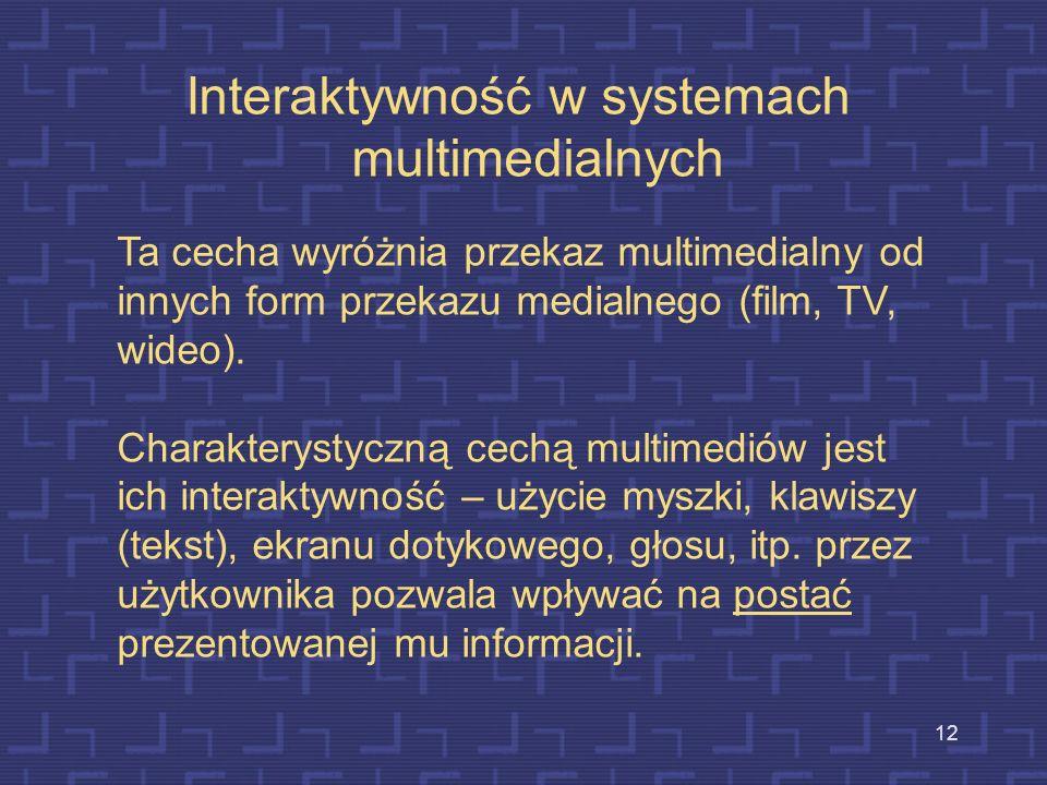 Interaktywność w systemach multimedialnych