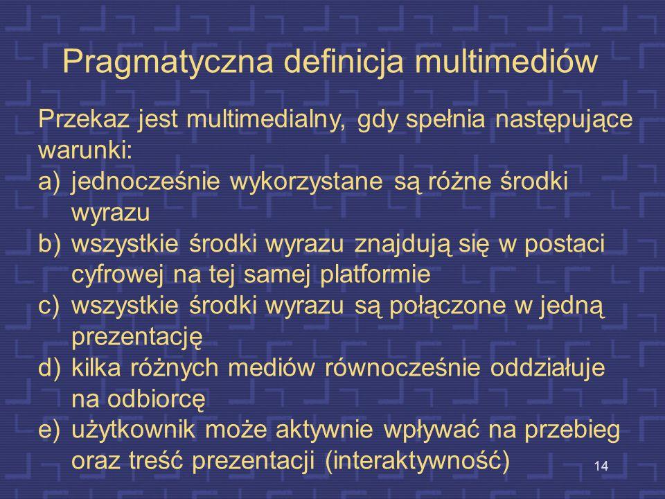 Pragmatyczna definicja multimediów