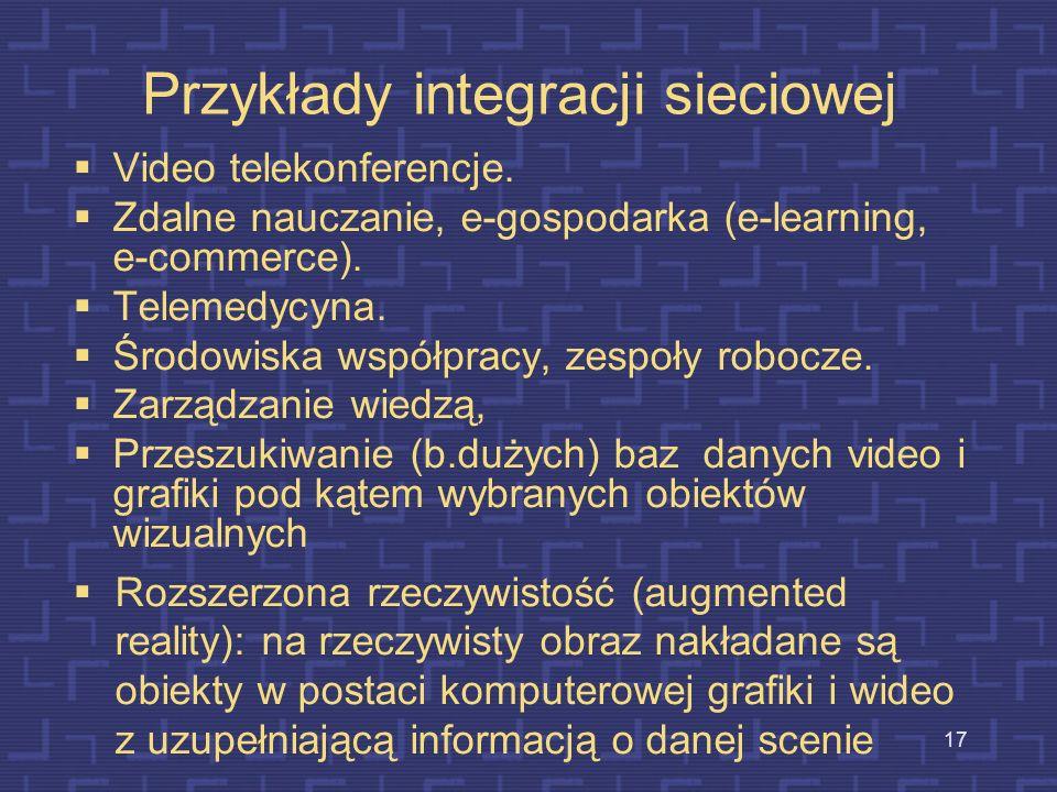 Przykłady integracji sieciowej
