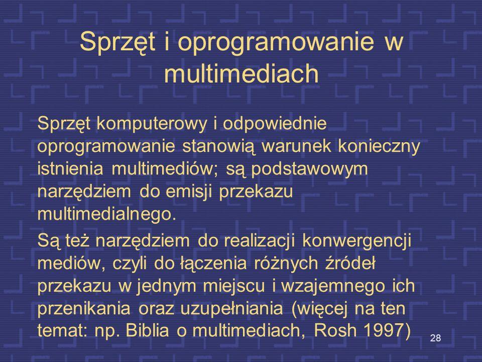 Sprzęt i oprogramowanie w multimediach