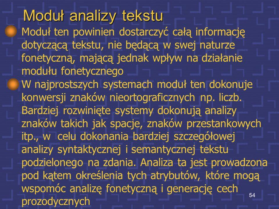 Moduł analizy tekstu