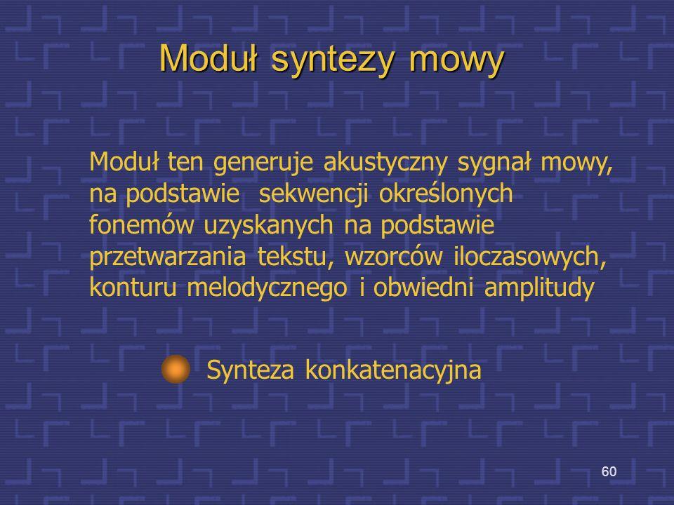 Moduł syntezy mowy