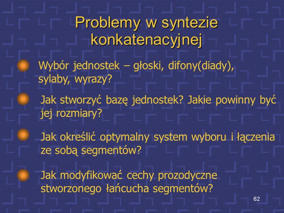 Problemy w syntezie konkatenacyjnej