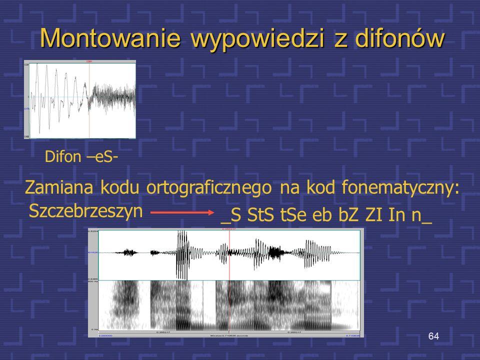 Montowanie wypowiedzi z difonów