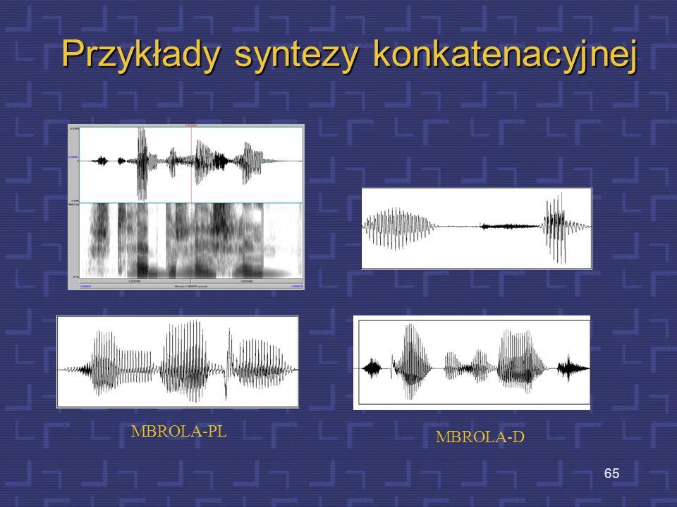 Przykłady syntezy konkatenacyjnej