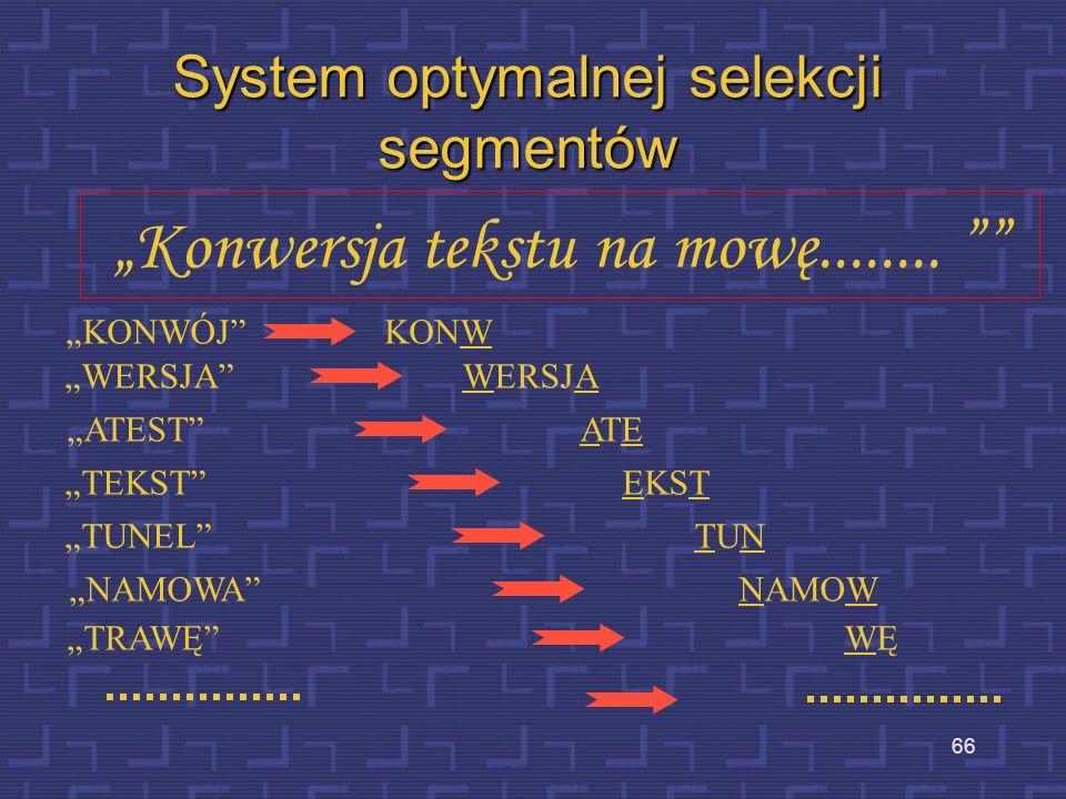 System optymalnej selekcji segmentów