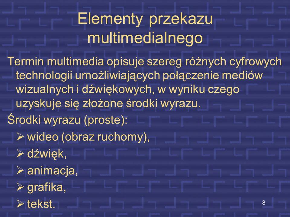 Elementy przekazu multimedialnego
