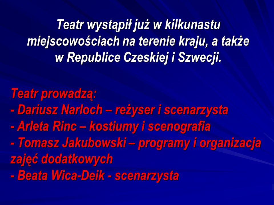 Teatr wystąpił już w kilkunastu miejscowościach na terenie kraju, a także w Republice Czeskiej i Szwecji.