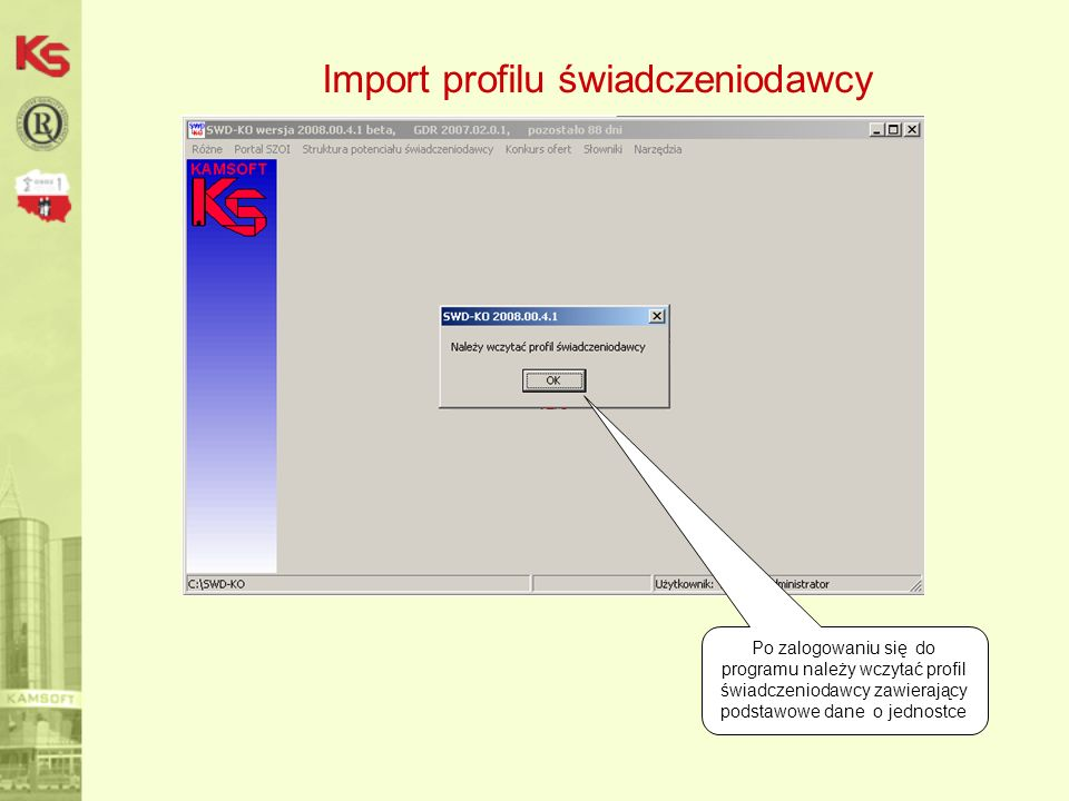 Import profilu świadczeniodawcy