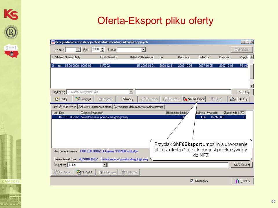 Oferta-Eksport pliku oferty