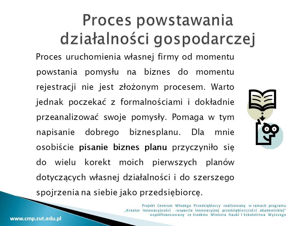 Proces powstawania działalności gospodarczej