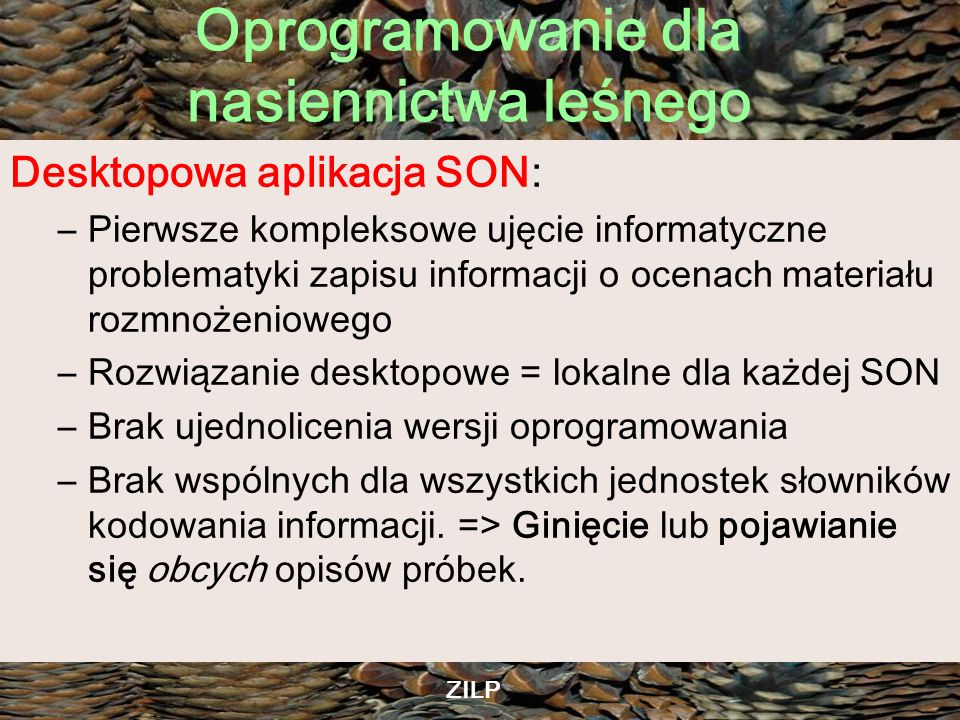 Desktopowa aplikacja SON: