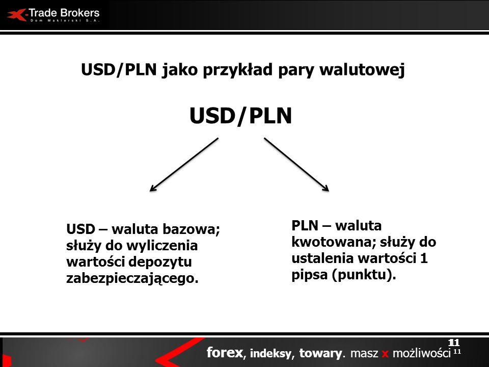 USD/PLN jako przykład pary walutowej