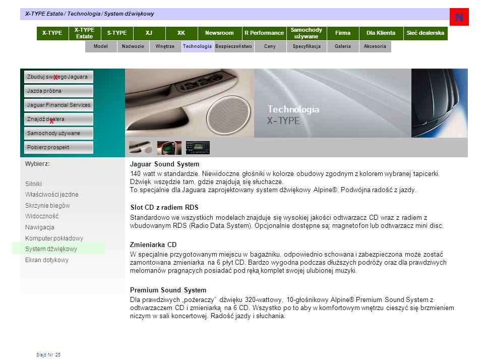 N Technologia X-TYPE x x Jaguar Sound System